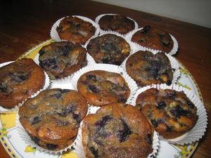 Muffins poires-myrtilles