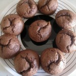 Muffins au chocolat, coeur au lemon curd