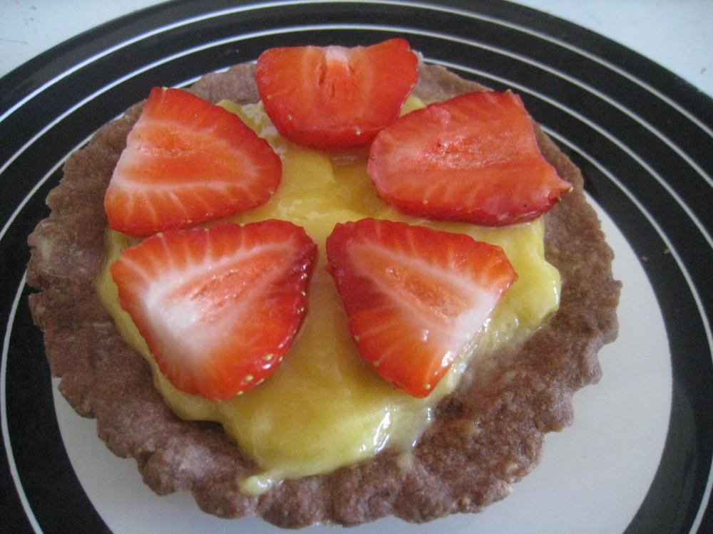 Tartelettes lemon curd fraise chroniques d 39 une chocoladdict for Fraise pour perceuse dijon