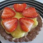 Tartelettes lemon curd-fraise