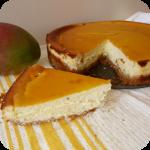 Cheesecake au chocolat blanc et aux fruits exotiques