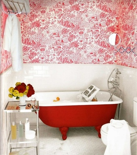 bathroom,sanfranciscotherapy,colours,fun,wallpaper-53f623ebf676d181debb280ee88bf0d8_h