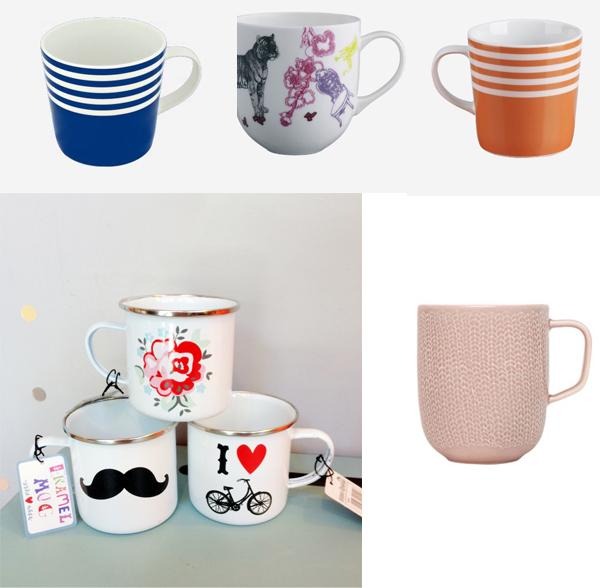 selection mugs
