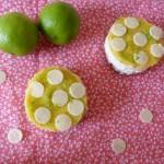 Mousse chocolat blanc citron vert, lime curd et spéculos