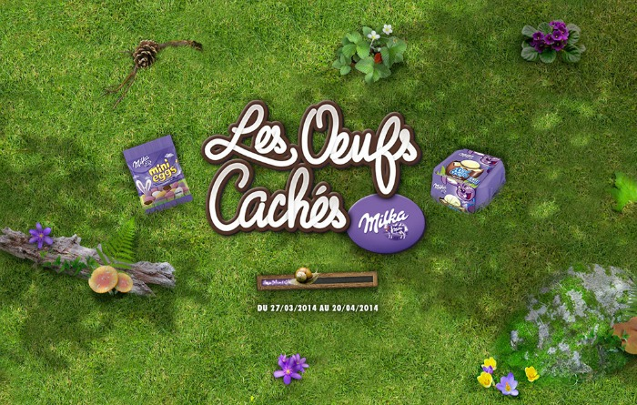 chasse aux oeufs milka