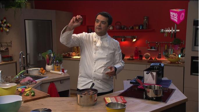 Mettez Jean-François Piège au défi avec Impro en cuisine
