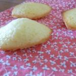 Petites madeleines à l'huile d'olive et au chocolat blanc