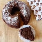 Bundt cake au chocolat, noix de coco et pommes de terre