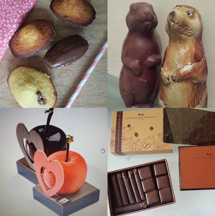 chocolat février collage