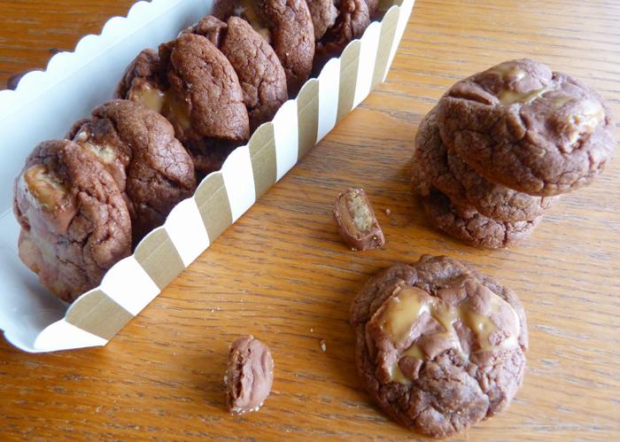 cookies chocolat twix