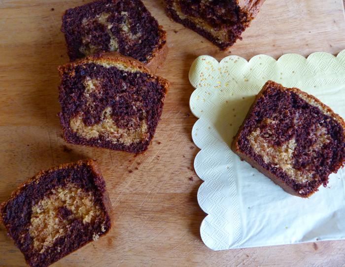 Spécial goûter : le gâteau marbré