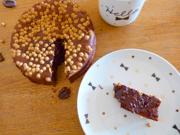 Brownie ultra chewy aux perles craquantes dulcey
