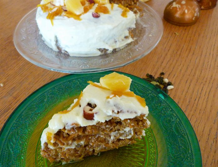 carrot cake aux agrumes