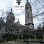 Montmartre en touriste en hiver