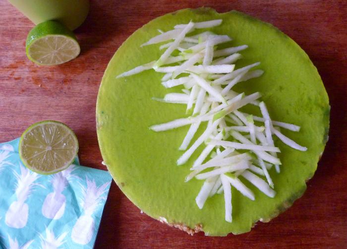 Cheesecake au citron vert & à la pomme granny-smith