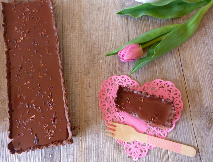 Tarte tout chocolat