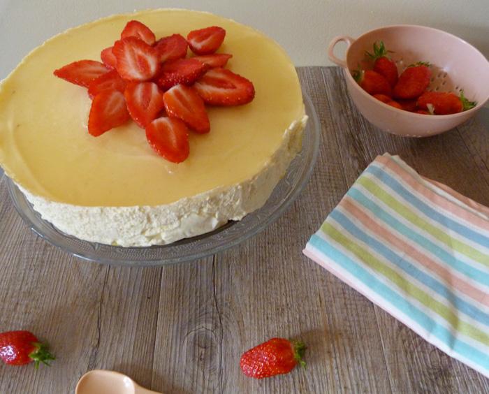 Cheesecake bergamote & fraises