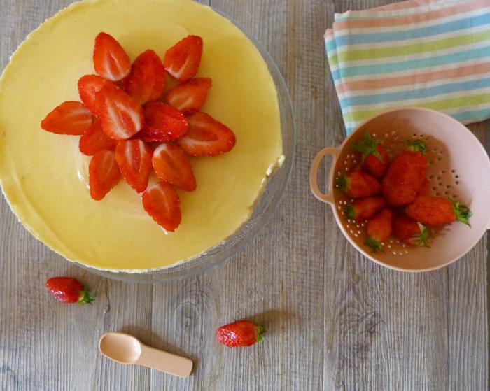 cheesecake bergamote fraise