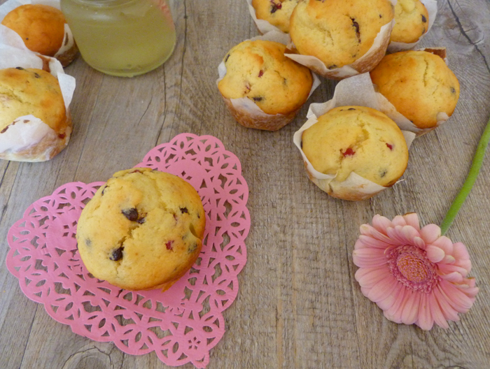 Muffins choco framboises version light