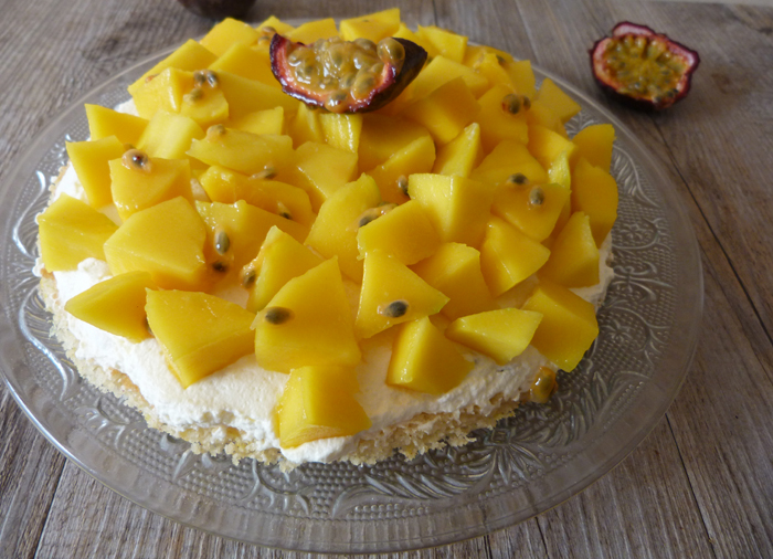 tarte mangue fruit de la passion