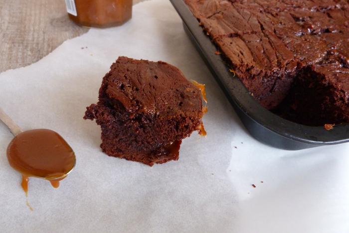 Brownie chocolat & caramel