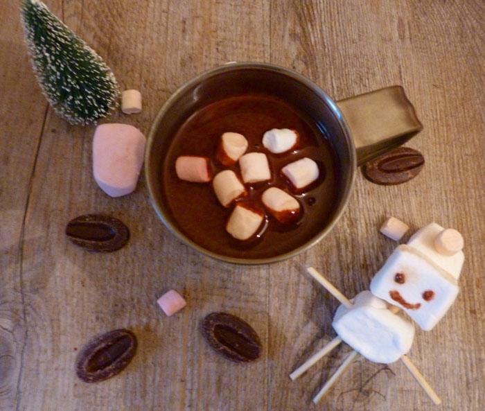 Chocolat chaud à l'eau et aux épices