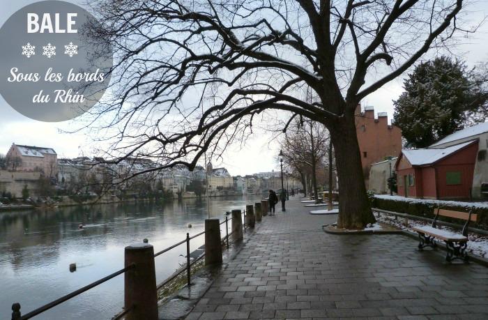 Balade sur les quais du Rhin à Bâle