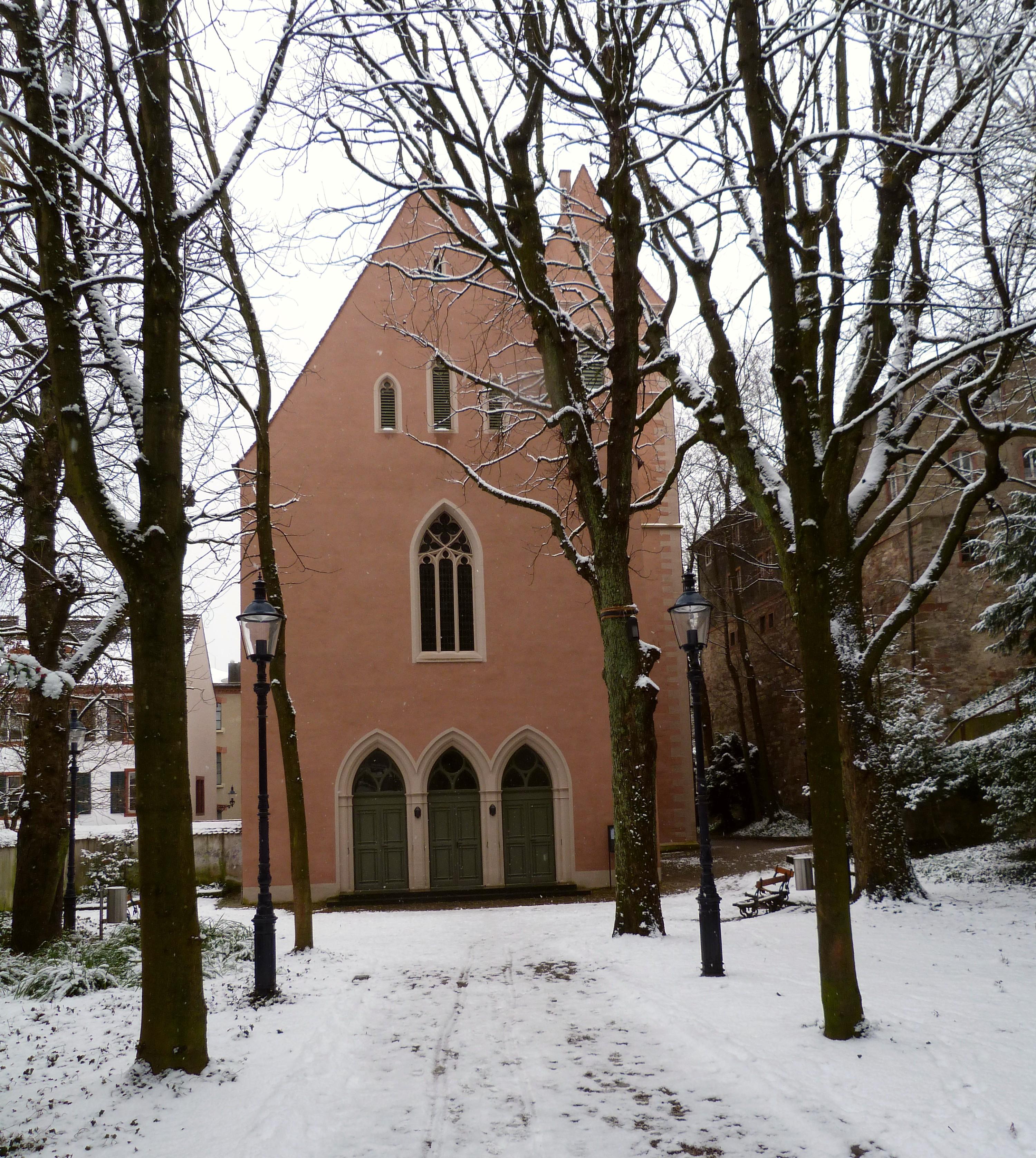 quartier de St Alban à Bâle en Suisse