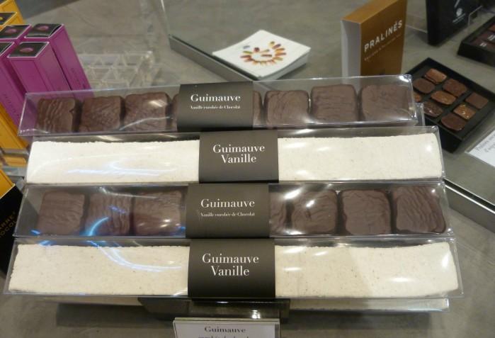 guimauves dans bar chocolat Marcolini