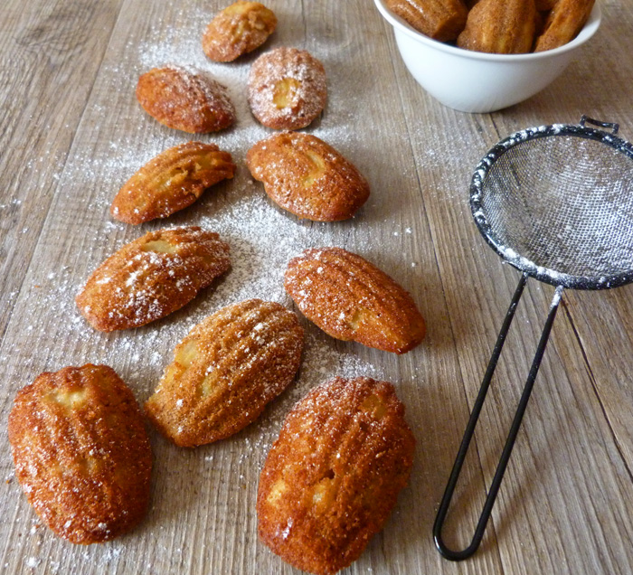 Madeleines pomme cannelle