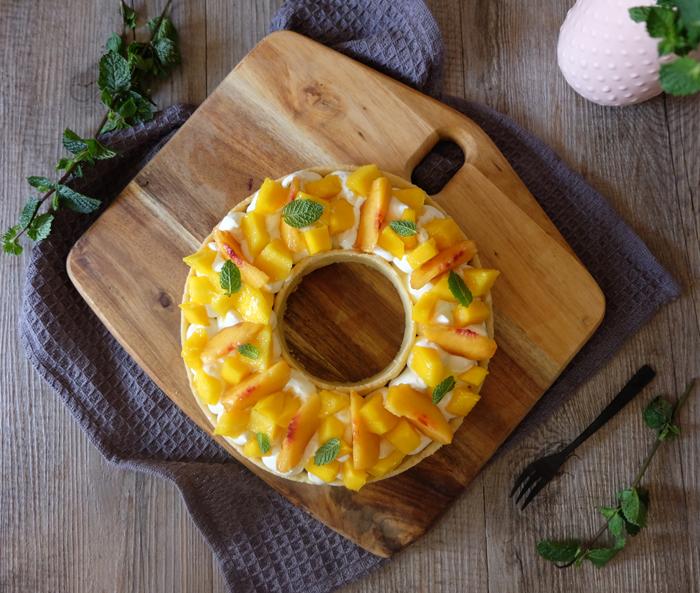tarte aux fruits jaunes facon Cyril Lignac