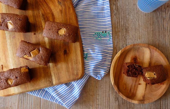 mini cake chocolat ble noir