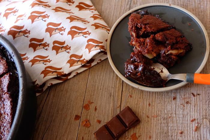 moelleux chocolat poire fudge