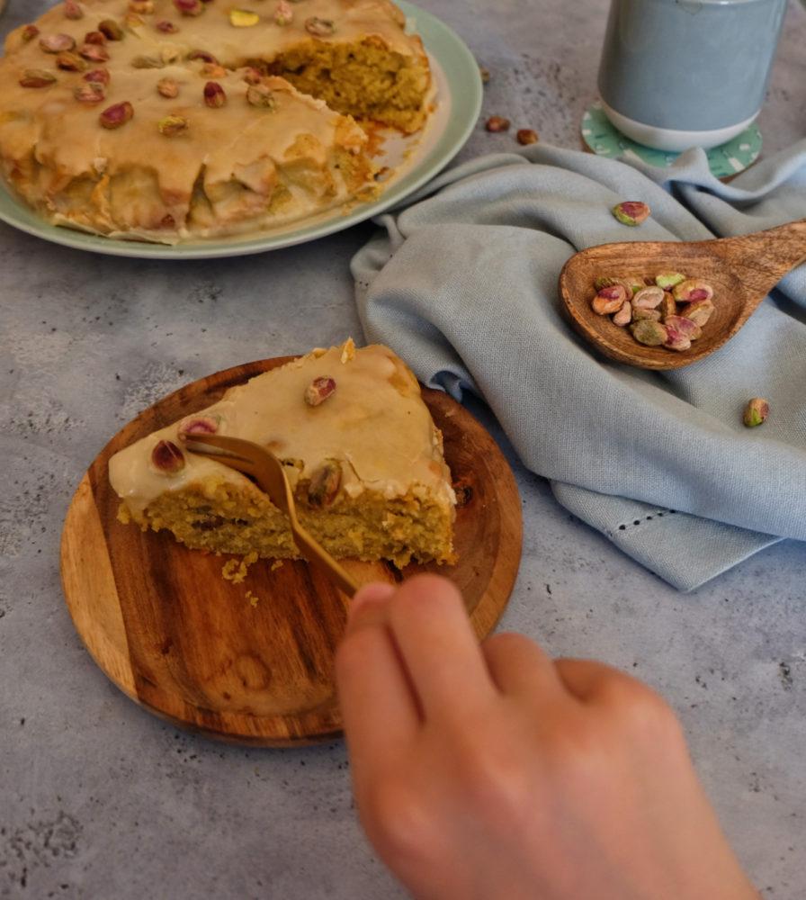 gâteau moëlleux à la pistache