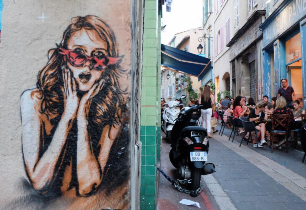 street art dans le vieux panier