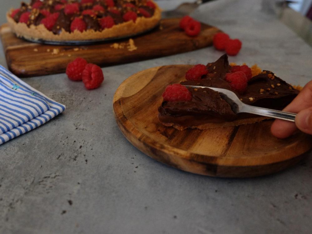 tarte chocolat framboise sans cuisson
