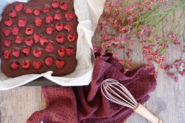 brownie framboises