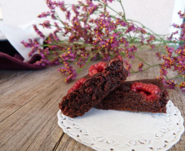 brownie framboises