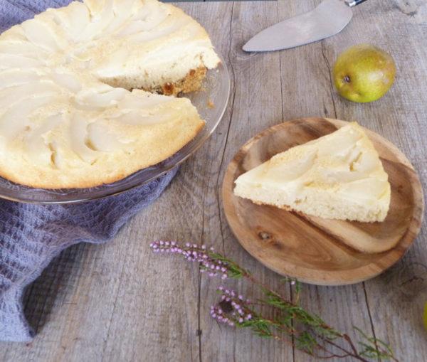 gâteau aux poires renversé