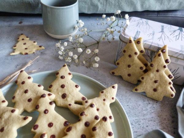 biscuits sapin à la pistache