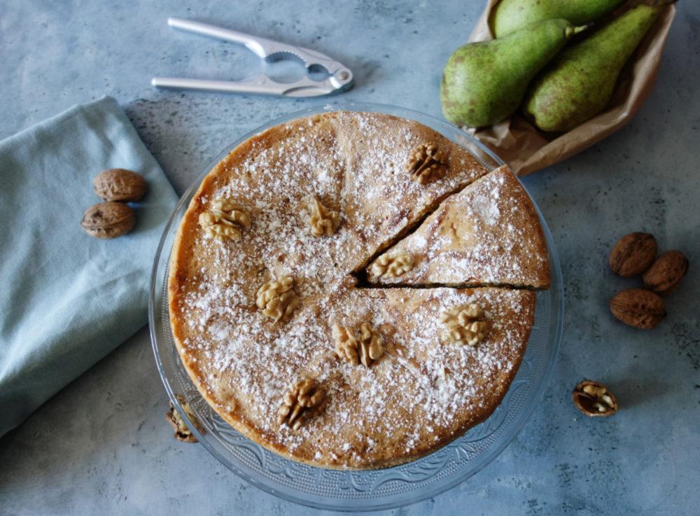 gâteau aux poires et aux noix