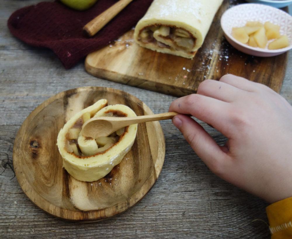 biscuit roulé japonais pommes marron