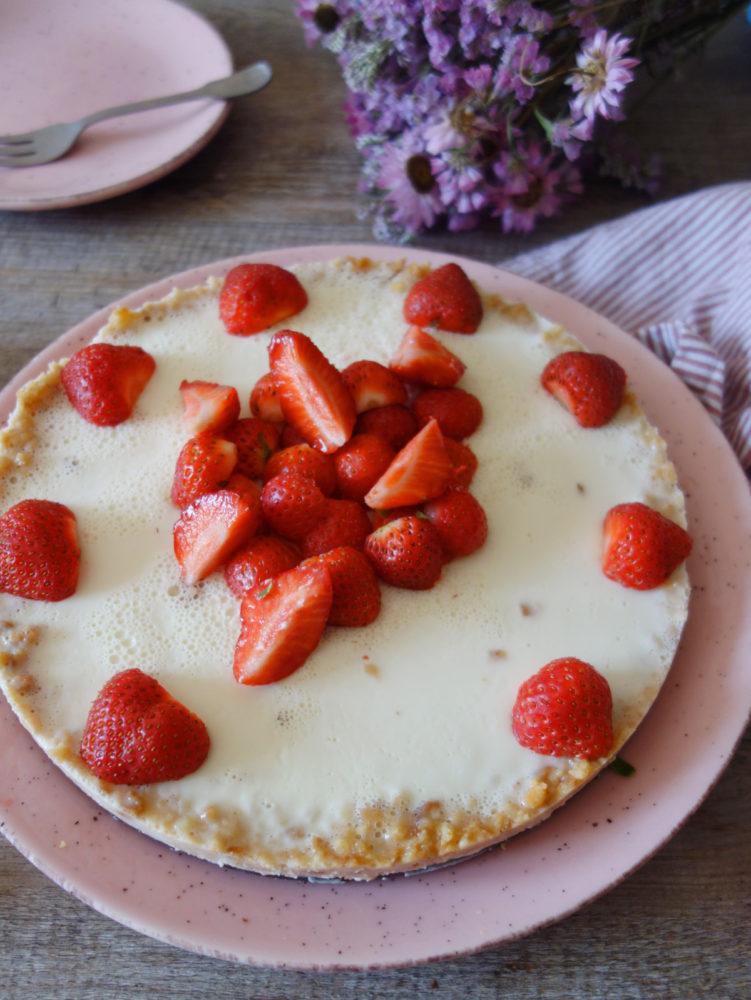 tarte pannacotta lait de coco & fraises