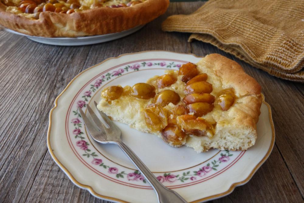 tarte briochée aux mirabelles
