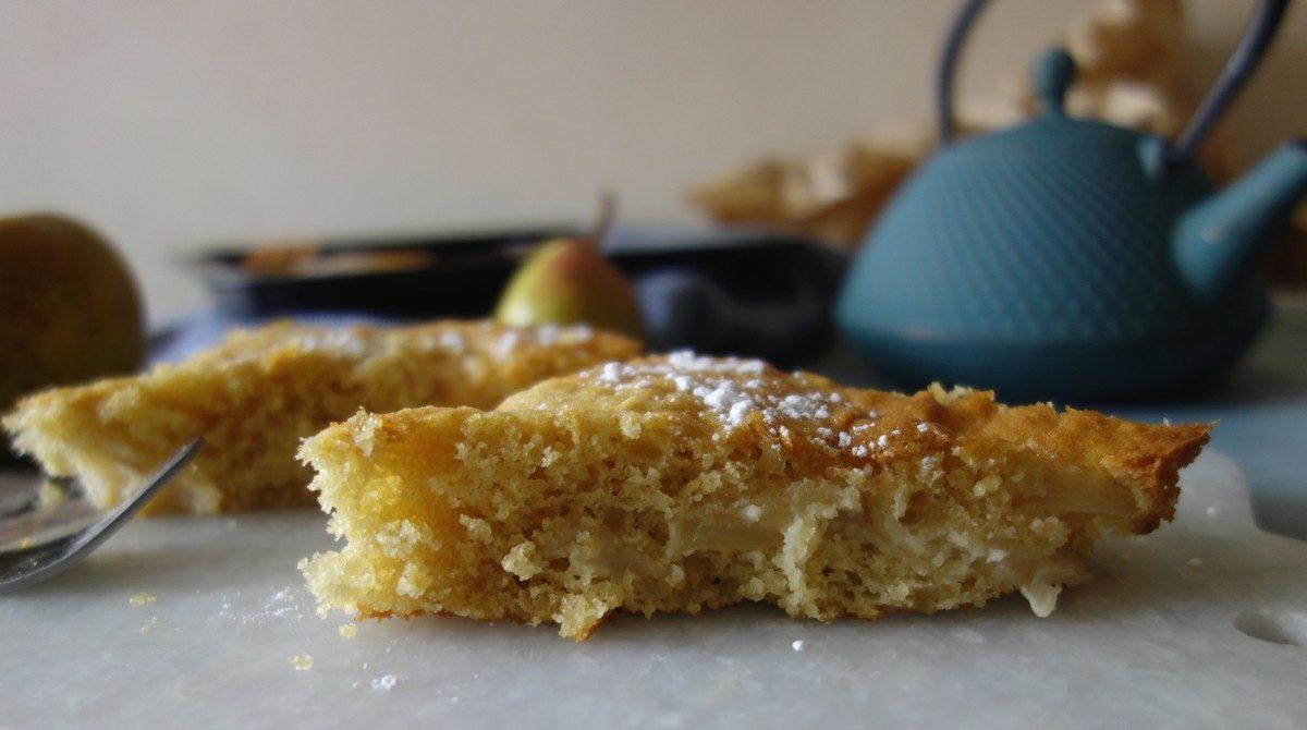 gâteau moelleux poires pommes