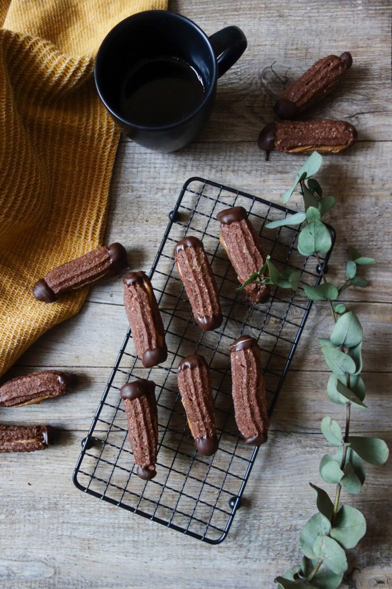 biscuits de Noël au chocolat & praliné