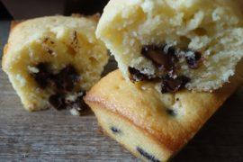 mini gâteaux aux petites de chocolat
