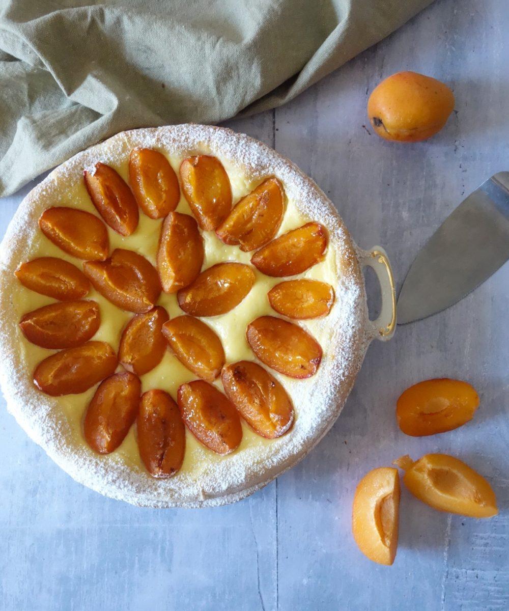 tarte briochée aux abricots