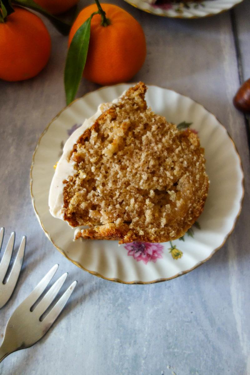 cake orange marrons
