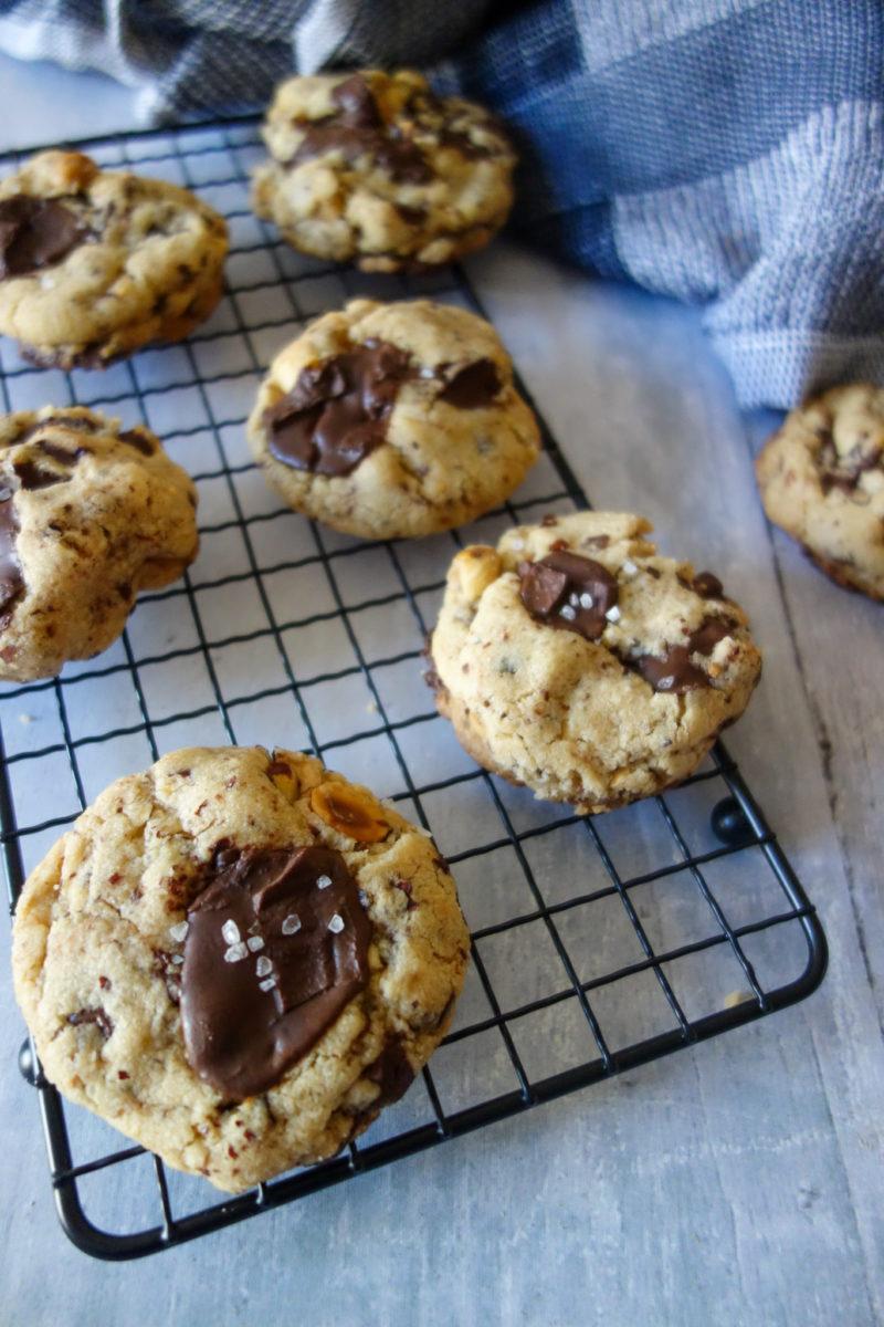 Cookies chocolat noir noisettes